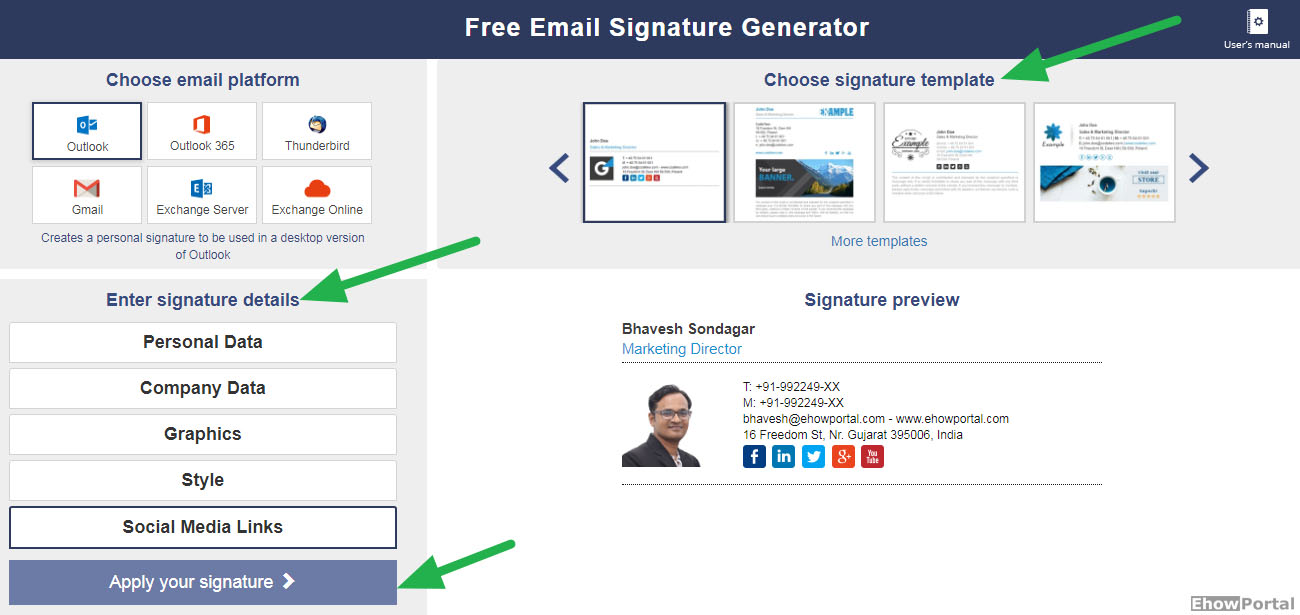 Professional Email Signature Generator [with Templates]