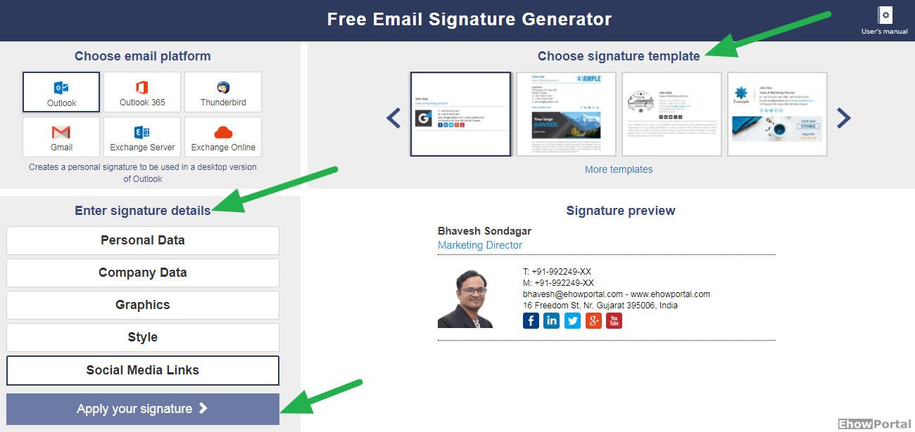 free email signature design generator online