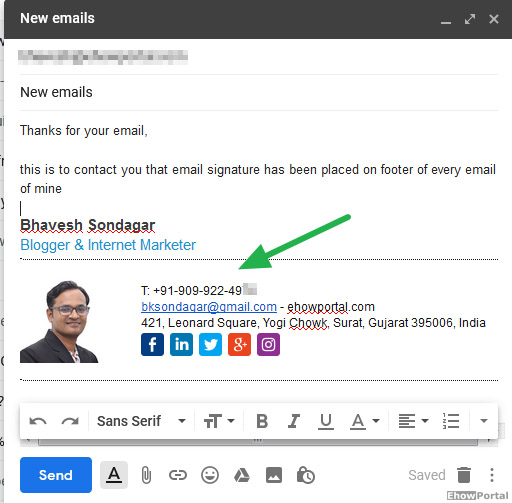 how to add signature in gmail with logo