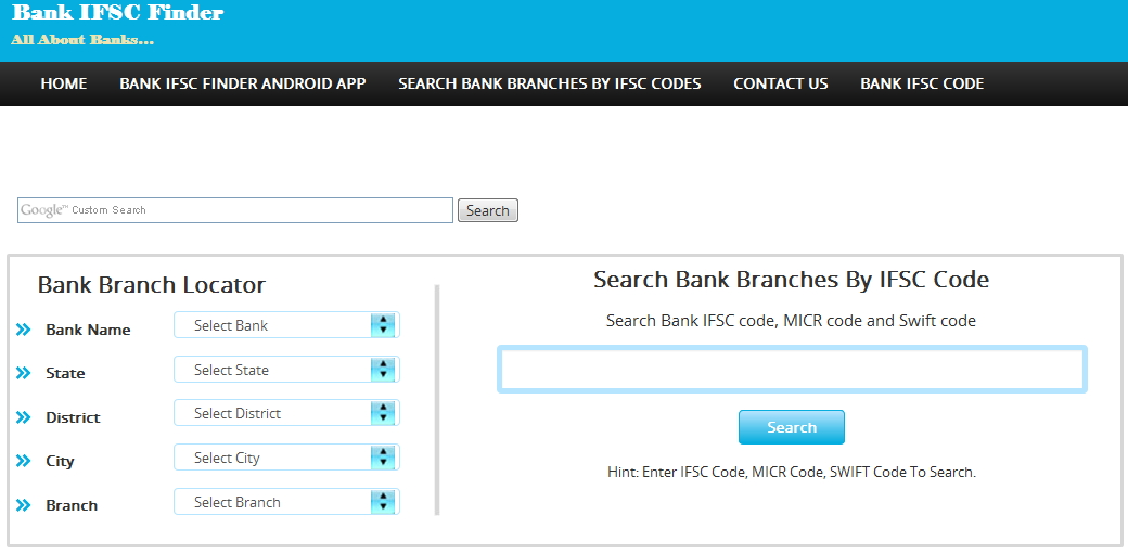 central bank of india search ifsc code
