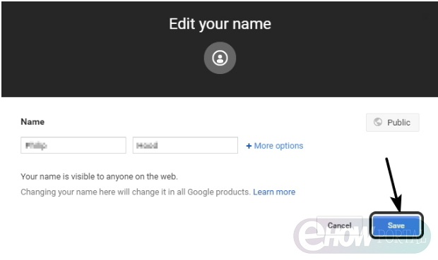 how to change my name on google plus