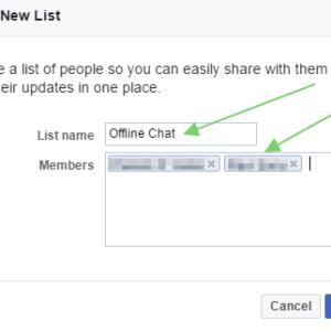 Facebook offline friends