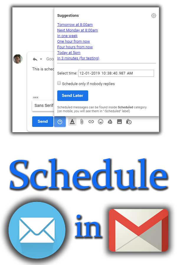 Schedule Ema.. in Gmail
