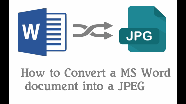 How To Convert Word Document To Jpeg Using Paint