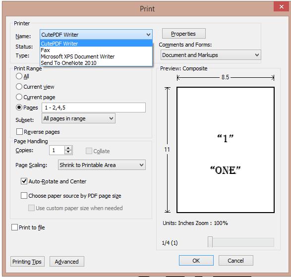 Adobe reader application