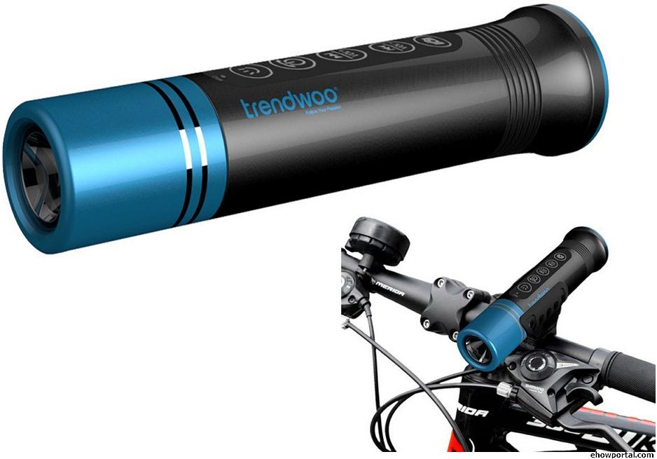 Trendwoo Outdoor Bicycle Bluetooth Speakers LED Flashlight