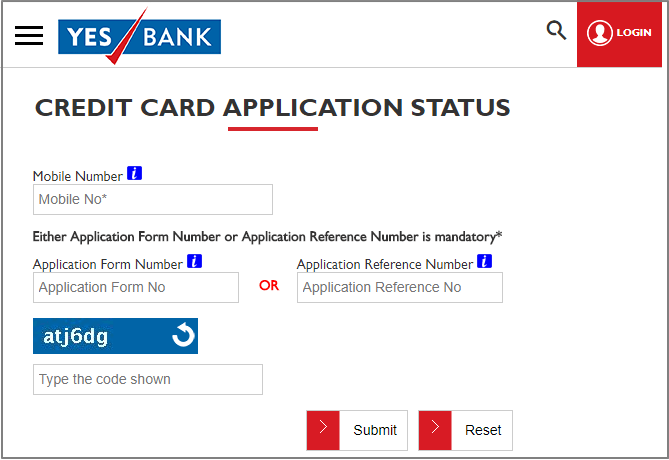 Credit Card Application check status online
