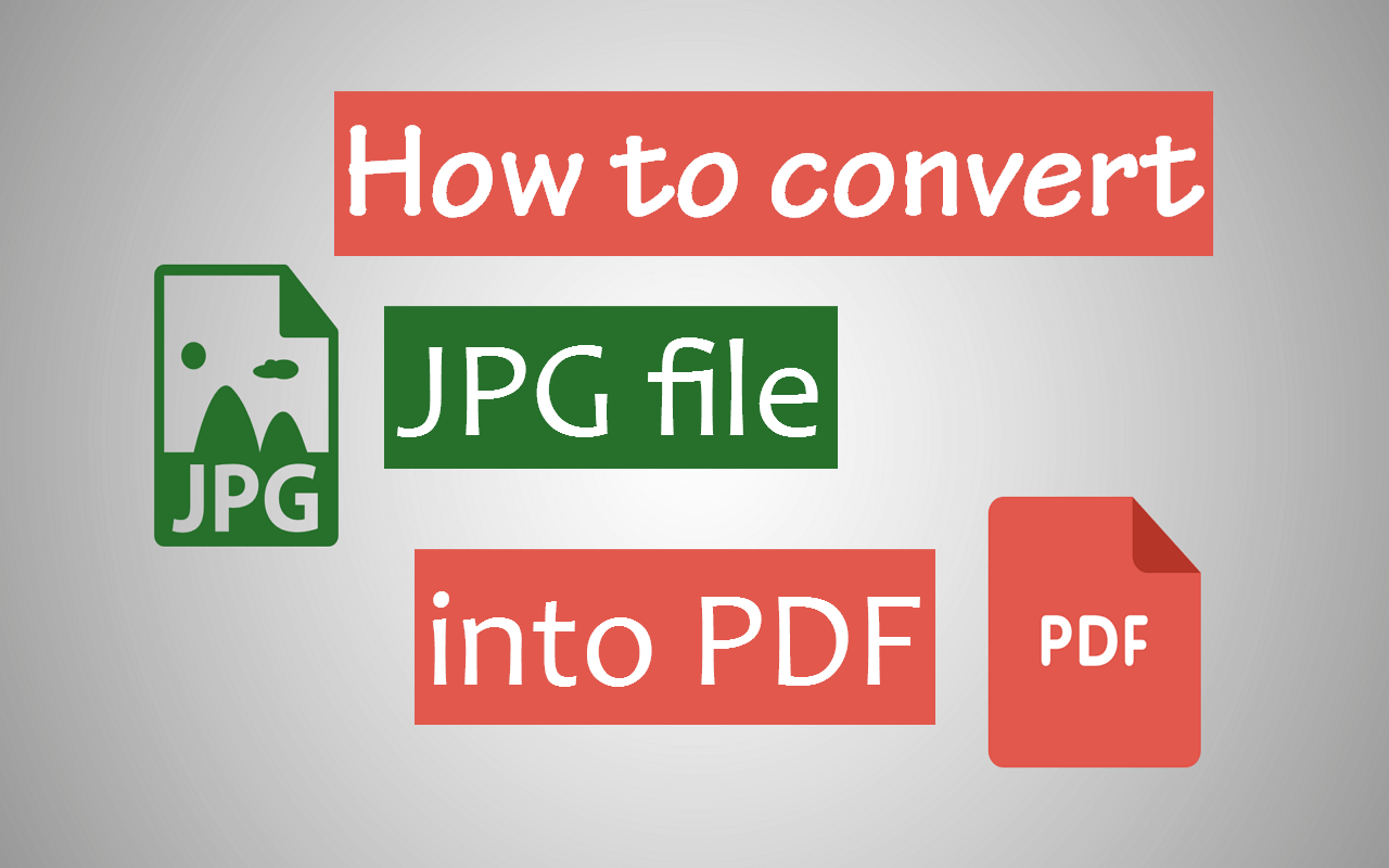 How to convert JPEG image file to PDF for free
