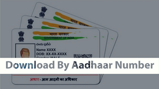 Download By Aadhaar Number