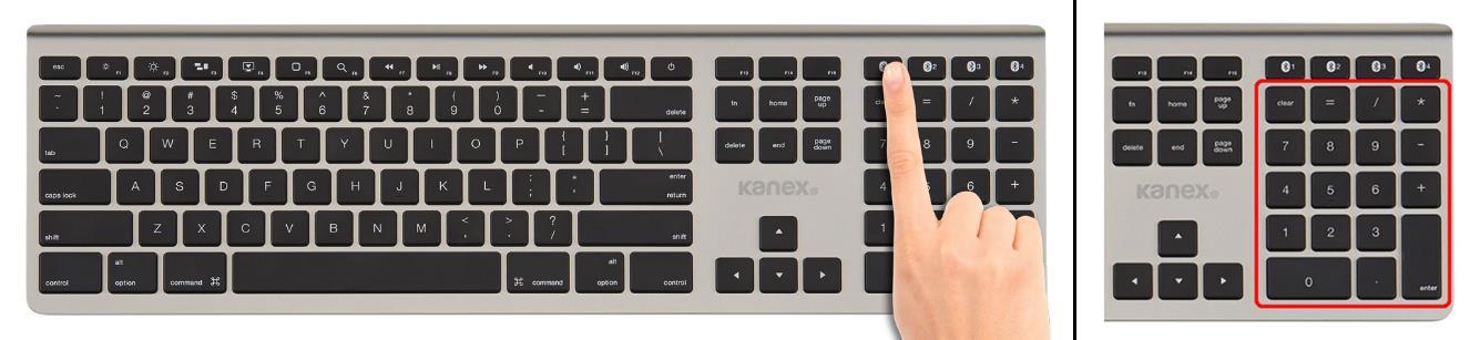 Kanex K166-1013 MultiSync Aluminum Bluetooth Full-Size Keyboard