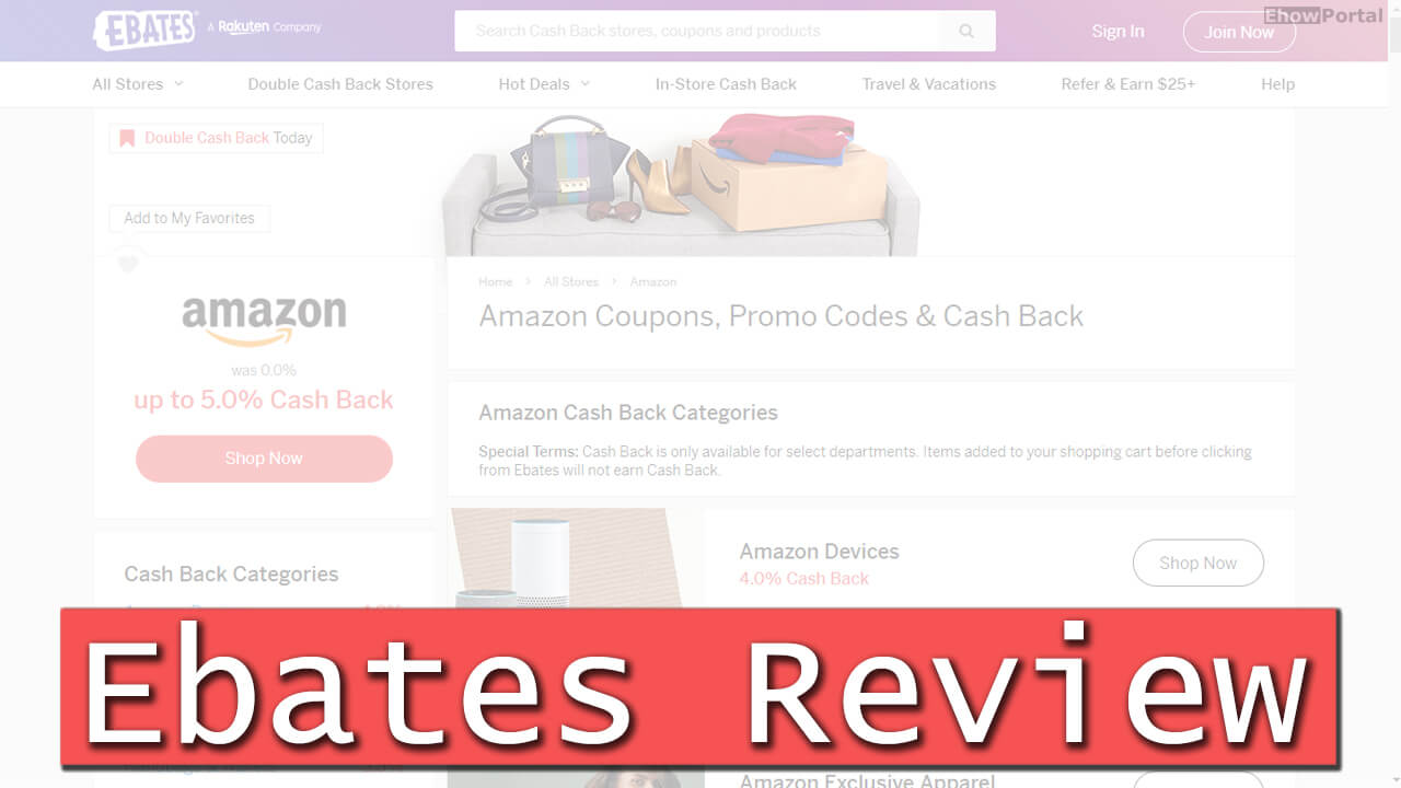 Amazon Ebates Coupons, Promo Codes & Cash Back