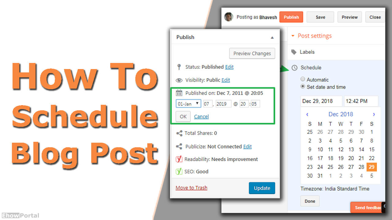 How To Schedule Blog Post
