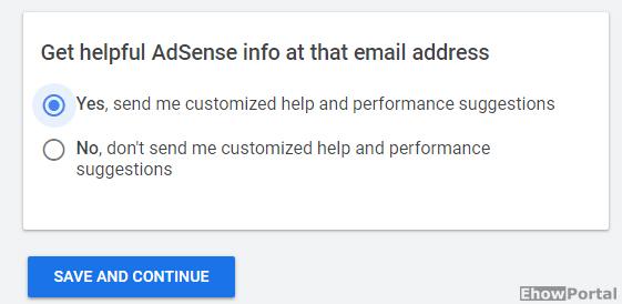 create adsense account process