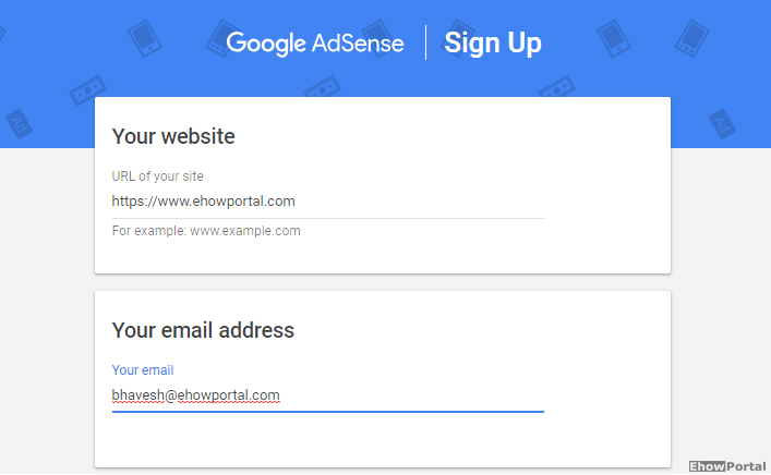 google adsense sign up process 2019