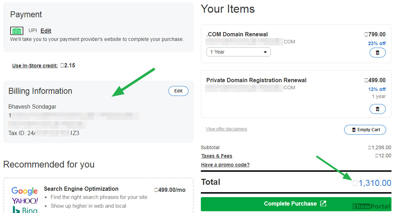 Godaddy Discount on Renewal offer