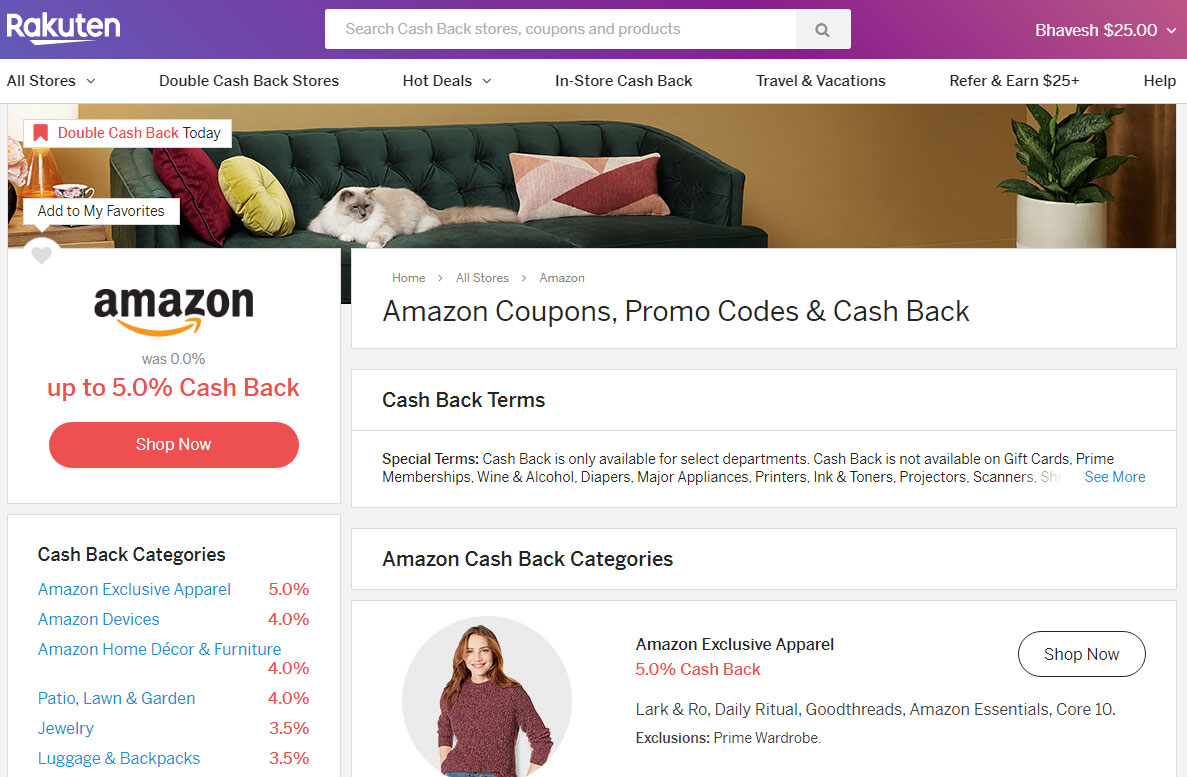 Amazon Coupons, Promo Codes & Cash Back Rakuten