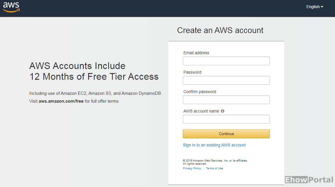 Amazon SES Signup