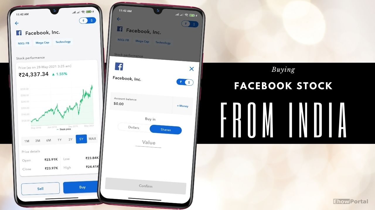 Buying Facebook Stock from India